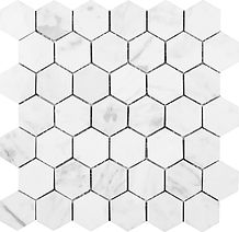 "Bianco Carrara 2"" Hexagon"