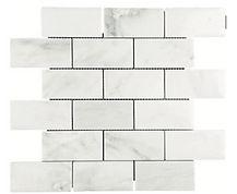 "Eastern White 2"" x 4"" Marble Mosaic"