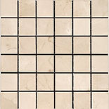 "2"" x 2"" Crema Marfil Marble Mosaic"