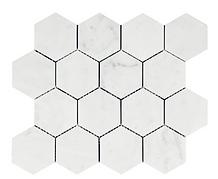 "Bianco Carrara 3"" Hexagon"