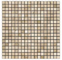 "5/8"" x 5/8"" Crema Marfil Marble Mosaic"
