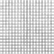 "Eastern White 5/8"" x 5/8"" Marble Mosaic"