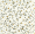 Thassos Tight Joint Marble Mosaic