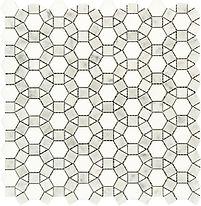 Thassos Sunflower Marble Mosaic