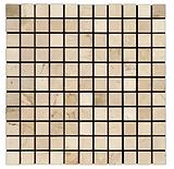"1""x 1"" Crema Marfi Marble Mosaic"