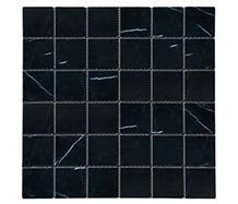 "2"" x 2"" Nero Marquina Marble Mosaic"