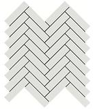"Thassos White Marble 1"" x 3"" Herringbone"