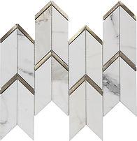Calacatta Gold Arrow Marble Mosaic