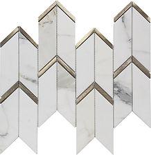 Calacatta Gold Arrow Metal