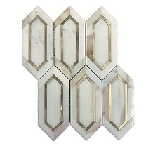 Calacatta Gold Slim Hexagon