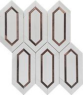 Dolomite Slim Hexagon Marble Mosaic