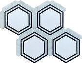 Thassos Georama Marble Mosaic