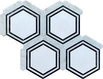 Georoma Nero Marquina Marble Mosaic