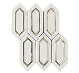Thassos Slim Hexagon Marble Mosaic