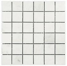 "Eastern White 2"" x 2"" Marble Mosaic"