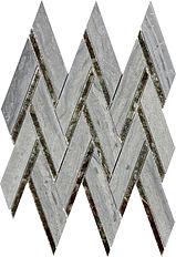 Blue Wood Herringbone