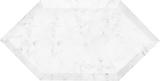 "3.15"" x 6"" High Beveled HexagonBianco Carrara Mosaic"