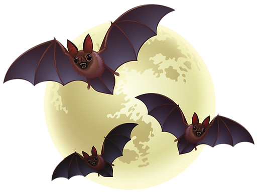 Creepy_Halloween_Moon_with_Bats_PNG_Clip
