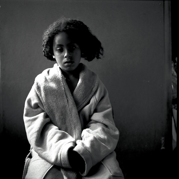 Portait of Young Girl in House Coat