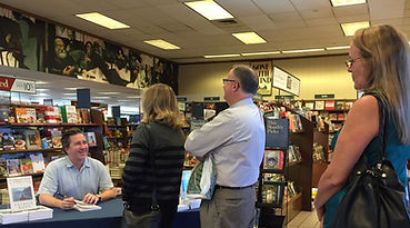 author signing Phx line.jpg