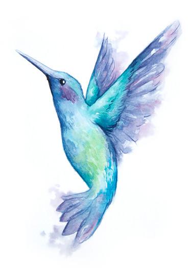 Hummingbird in Ink