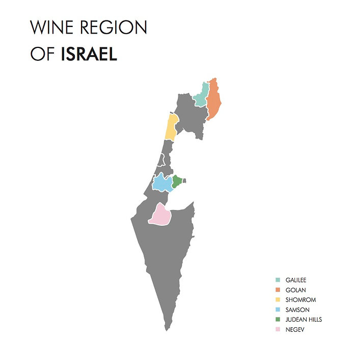 wine map of Israel