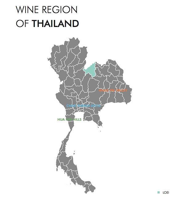 Thailand wine map