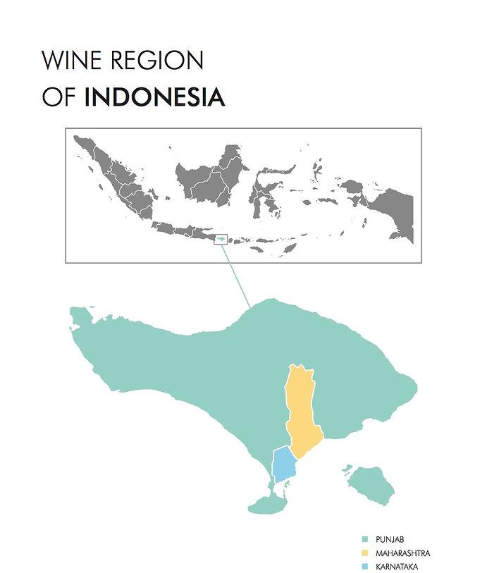 Indonesia wine map
