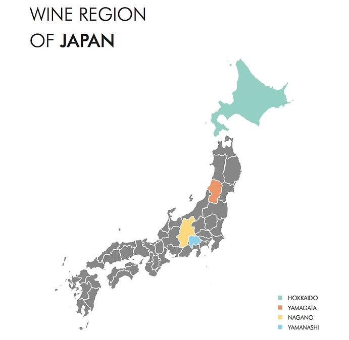 Japan Wine map