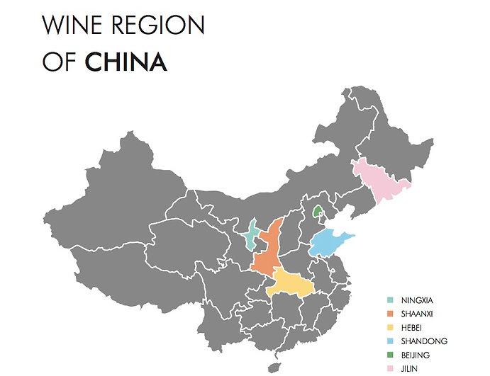 China wine map