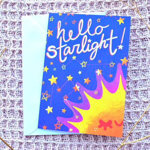 Hello Starlight Greeting Card