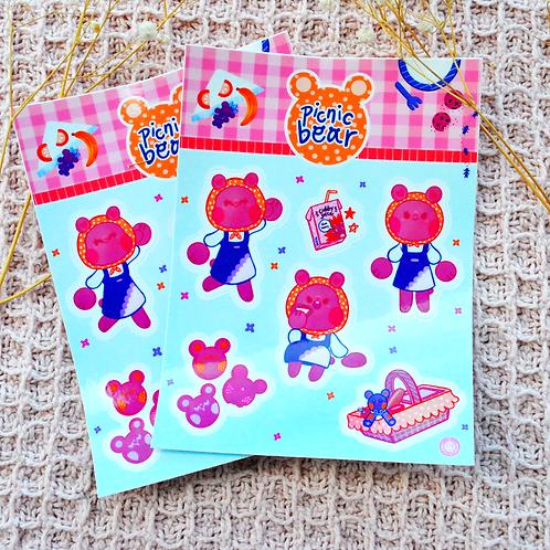 Picnic Bear Sticker Sheet