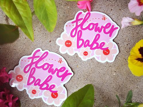 Flower Babe Sticker