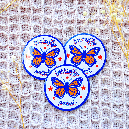 Butterfly Patrol Sticker
