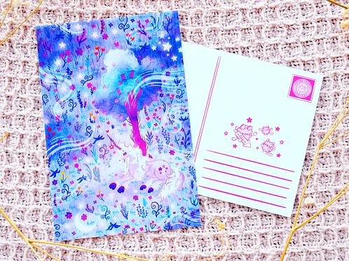 Free Princess Unicorn Postcard