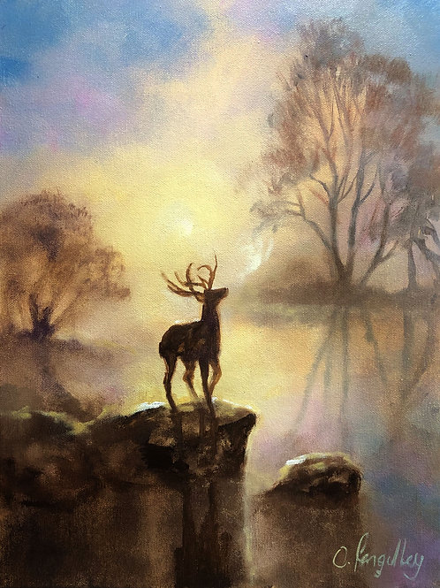 'As the deer' part two original Oil Painting