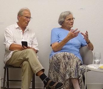 Brunhilde Hanke und Claus Dobberke am 10.August 2020 in der Galerie Preuß in Eiche