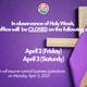 Holy Week Observance
