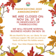 Thanksgiving 2020 Announcement