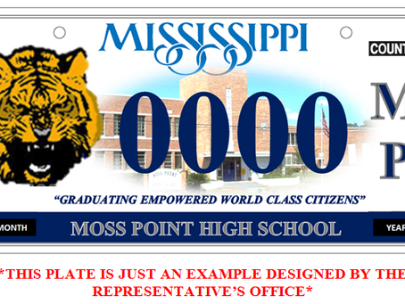 MOSS POINT CAR TAGS ARE NOW AVAILABLE (COMMITMENTS)