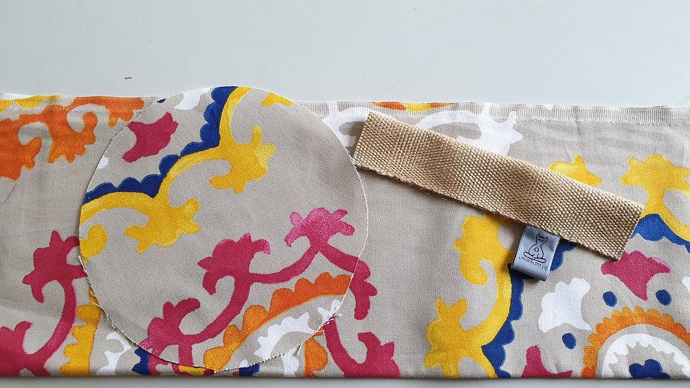 Housse  toile imprimée pour bolster de taille standard de l'Atelier du Chat Yogi