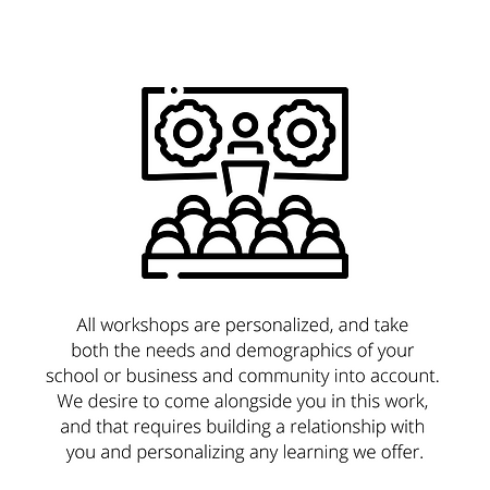 All workshops are personalized, and take