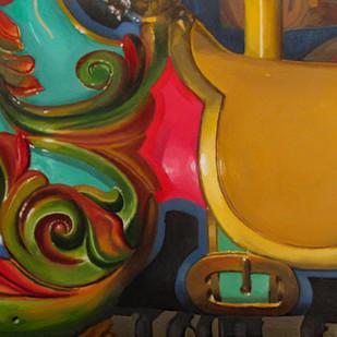 Gold Carousel Horse