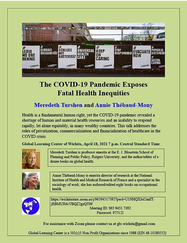 GLC April COVID19 Health Inequalities II