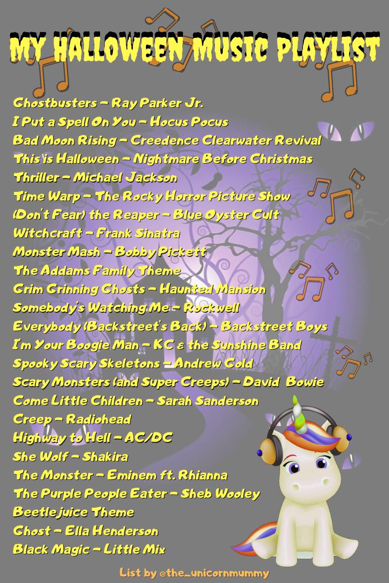 Ideas for some halloween tunes. A Halloween playlist