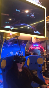 Having alot of fun on the VR game in Coral Island