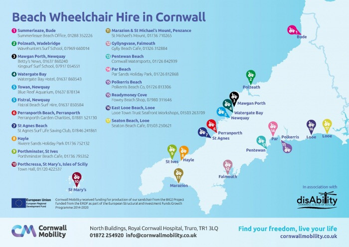a cornish disabilty beach map