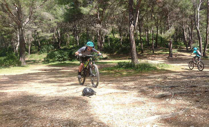 Two Kid Riding MTB in Mallorca