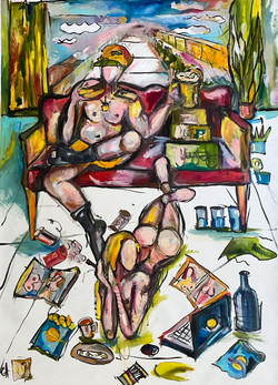Hopelessness_in_one_room_canvas_oil_ink_