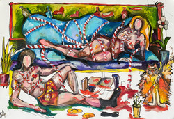 Freedom_in_love_canvas_oil_ink_90-60cm.J